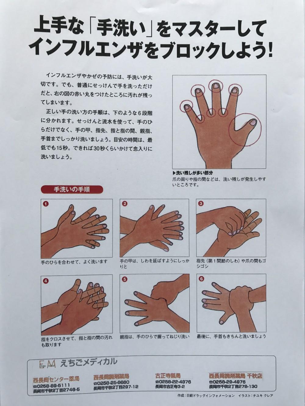 じょうずな手洗い