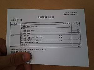 保険調剤明細書
